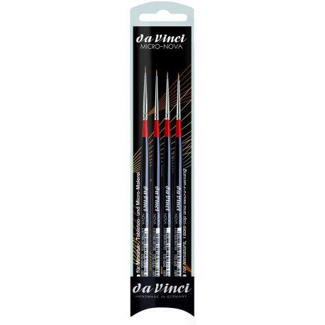DA VINCI SET 4 ultra thin brushes MICRO-NOVA Set
