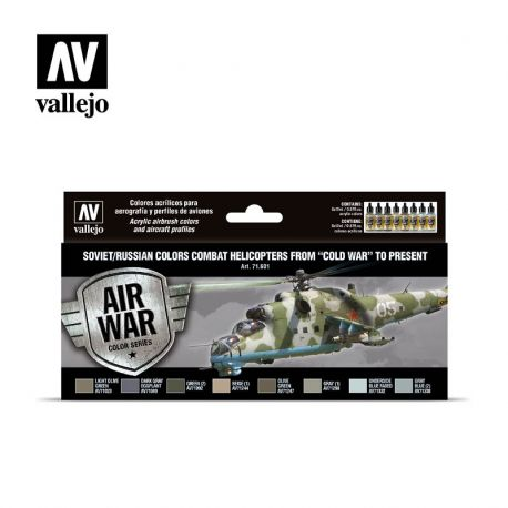 Vallejo 71601 Soviet/Russian colors Combat Helicopters post WWII to present