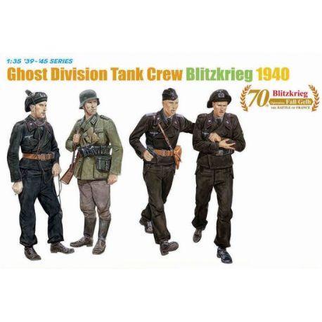 DRAGON 6054 Ghost Division Tank Crew Blitzkrieg 1940