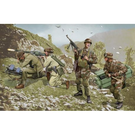 DRAGON 6743 German Brandenburg Troops, Leros 1943 (4 Figures Set)