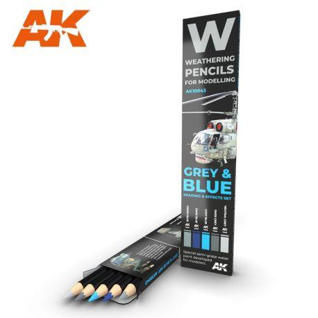AK INTERACTIVE WEATHERING PENCIL GREY & BLUE