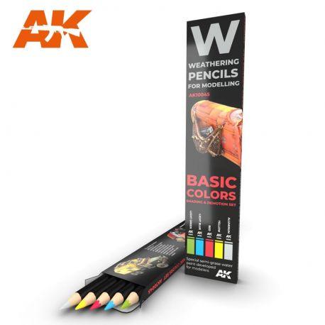 AK INTERACTIVE WEATHERING PENCIL BASIC COLORS
