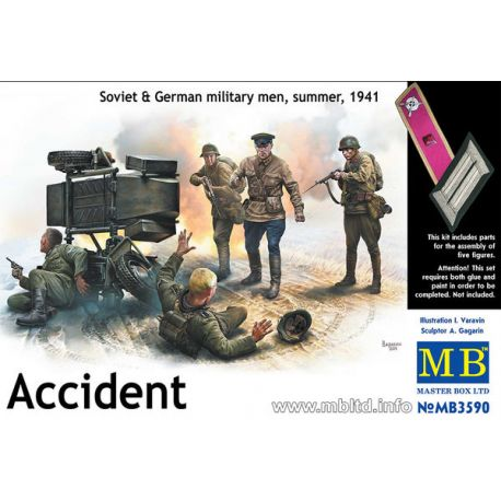 Master Box 3590 Accident. Soviet & German military men, summer 1941