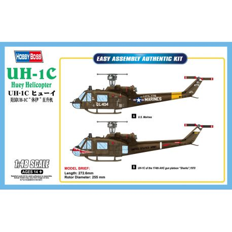 HOBBY BOSS 85803 UH-1C Huey Helicopter 1/48