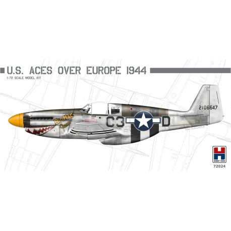 HOBBY 2000 72024 P-51B Mustang U.S. Aces over Europe 1944 1/72