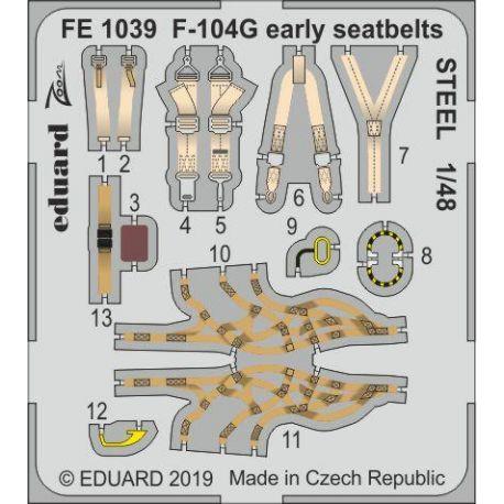 EDUARD FE1039 F-104G early seatbelts STEEL 1/48