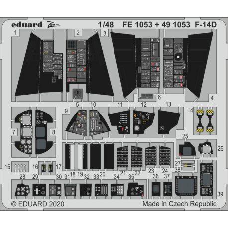 EDUARD FE1053 F-14D 1/48