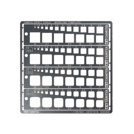 TAMIYA 74156 Modeling Template (quadrati, 1-10mm)
