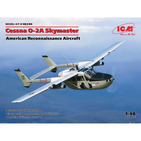 ICM 48290 Cessna O-2A Skymaster, American Reconnaissance Aircraft 1/48