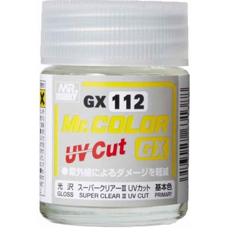Mr. COLOR GX SUPER CLEARⅢ UV CUT GLOSS 18ml