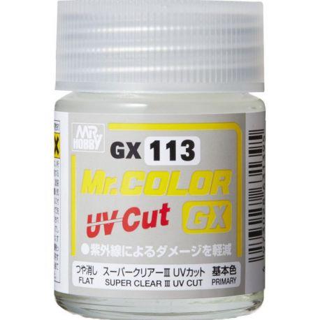 Mr. COLOR GX SUPER CLEARⅢ UV CUT FLAT 18ml