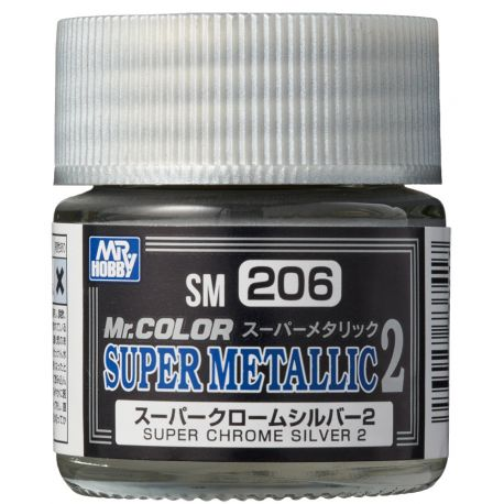 MR.COLOR SUPER METALLIC 2 SUPER CHROME SILVER 2 10ml
