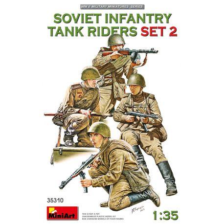 MINIART 35310 SOVIET INFANTRY TANK RIDERS SET 2 1/35