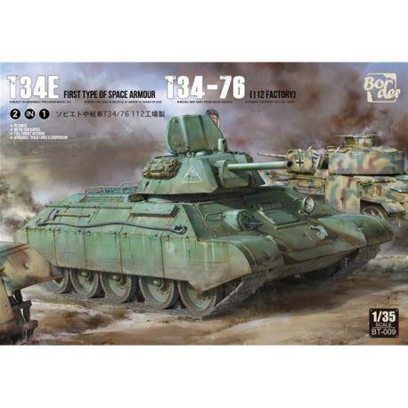 BORDER MODEL BT-009 T-34E (mit Zusatzpanzerung) / T-34-76 2in1