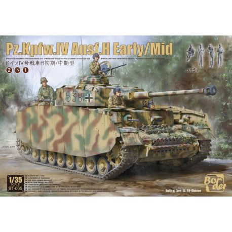 BORDER MODEL BT-005 BORDER MODEL PZ.KPFW.IV AUSF.H EARLY/MID 1/35