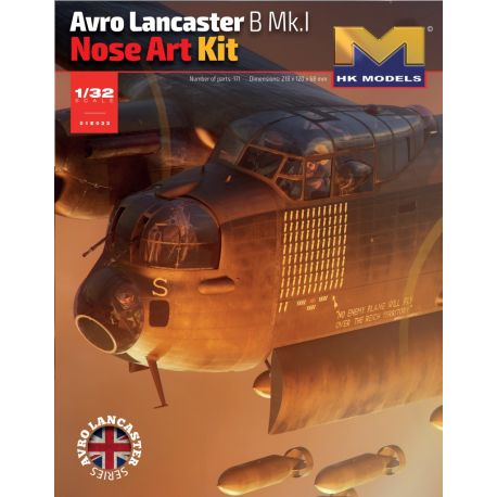 HONG KONG MODEL 01E31 Avro Lancaster B.Mk.I Nose Art Kit 1/32