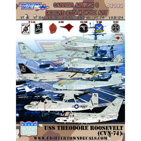 Fighter Town 48090 Carrier Air Wing 8 Desert Storm Nose Art