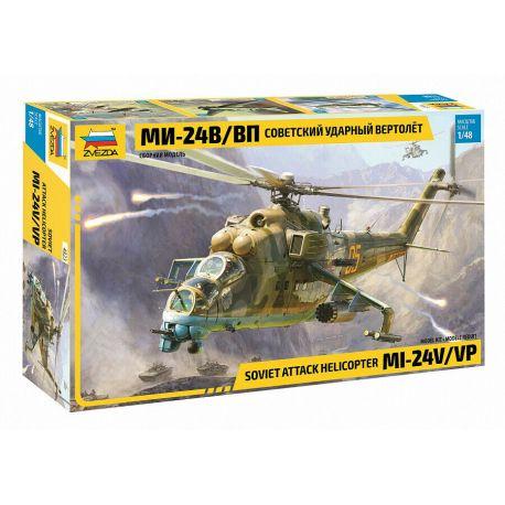 ZVEZDA 4823 Soviet Attack Helicopter MI-24V/VP 1/48