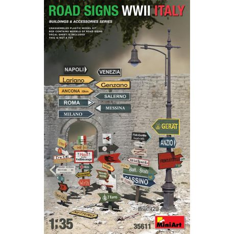 MINIART 35611 ROAD SIGNS WWII ITALY