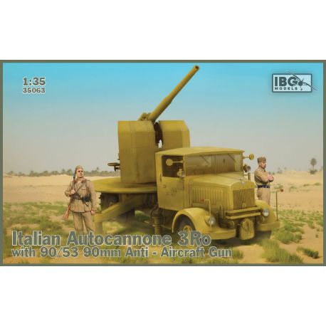 IBG MODELS 35063 Italian Autocannone 3RO with 90/53 Anti Aircraft Gun 1/35