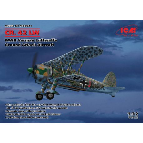 ICM 32021 CR. 42 LW , WWII German Luftwaffe Ground Attack Aircraft (100% new molds) 1/32