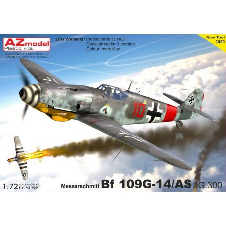 AZ-Model 7656 Bf-109G-14/AS JG.300 (new tool 2020)