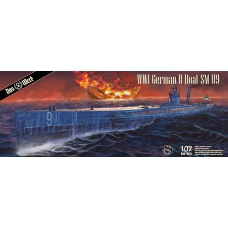 DAS WERK 72001 S.M. U-Boot 9 - WWI German Submarine 1/72