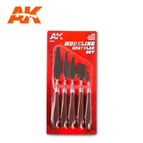 AK INTERACTIVE 9051-MODELING SPATULAS SET