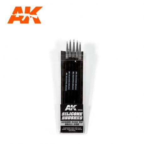 AK INTERACTIVE 9085-SILICONE BRUSHES MEDIUM TIP SMALL (5 SILICONE PENCILS)