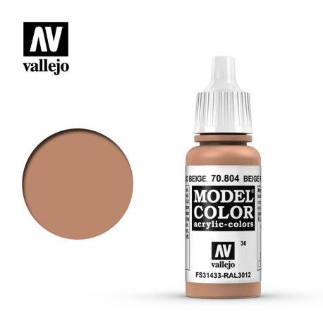 VALLEJO MODEL COLOR 36 BEIGE RED 70804
