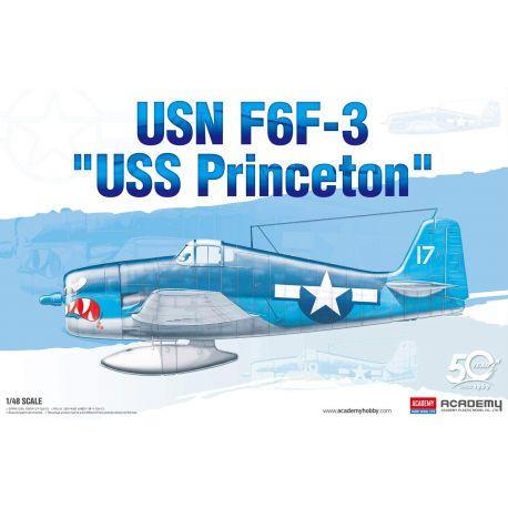 "ACADEMY 12332 USN F6F-3 Hellcat "" Uss PRINCETON"" 1/48"