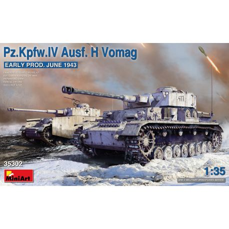 MINIART 35302 Pz.Kpfw.IV Ausf. H Vomag. EARLY PROD. JUNE 1943