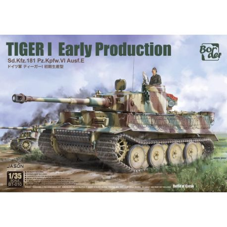 BORDER MODEL BT010 TIGER I Early Production, Battle of Kursk 1/35