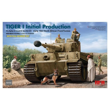 RYE FIELD MODEL 5050 Tiger I initial production early 1943 w/ interior 1/35