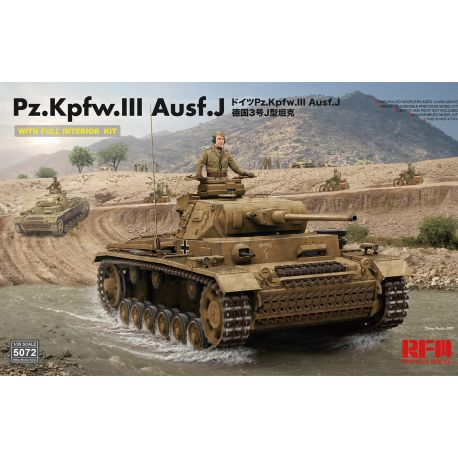 RYE FIELD MODEL 5072 Pz. Kpfw. III Ausf. J w/ full interior 1/35