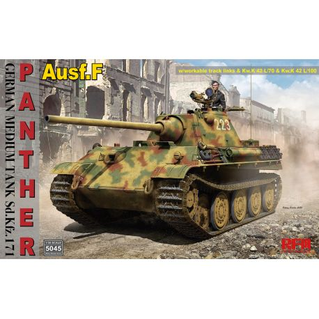 RYE FIELD MODEL 5045 Panther Ausf.F with workable track links 1/35