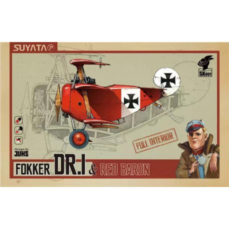 SUYATA FOKKER DR.I & RED BARON FULL INTERIOR