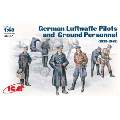 ICM 48082 WWII Luftwaffe Pilots and Ground Personnel 39-45
