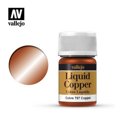 VALLEJO MODEL COLOR 218 LIQUID COPPER 35 ML 70797