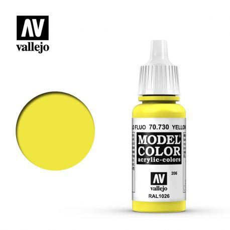 VALLEJO MODEL COLOR 206 YELLOW FLUO 70730