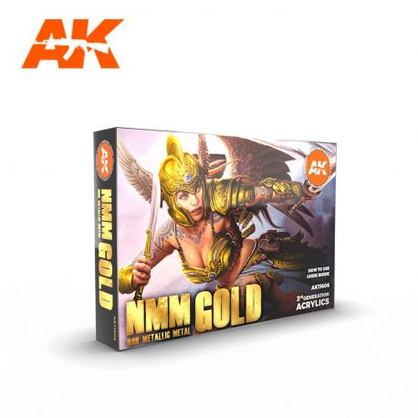 AK INTERACTIVE 3rd Generation- NMM (NON METALLIC METAL) GOLD set