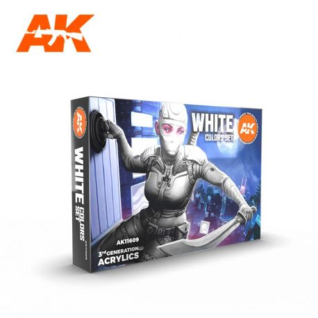 AK INTERACTIVE 3rd Generation- WHITE COLORS SET