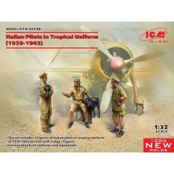 ICM 32110 Italian Pilots in tropical uniforms (1939 - 1943) 1/32