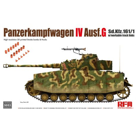 RYE FIELD MODEL 5053 Panzerkampfwagen IV Ausf. G Sd.Kfz. 161/1 w/with workable track links