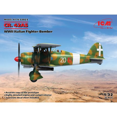 ICM 32023 Cr. 42AS WW II Italian Fighter Bomber 1/32