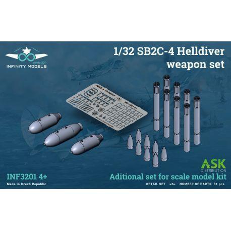 INFINITY MODELS- SB2C-4 Helldiver weapon set (bomb and rockets)