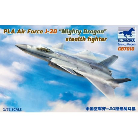 """BRONCO MODELS GB7010 PLA Air Force J-20 """"Mighty Dragon"""" stealth fighter 1/72"""