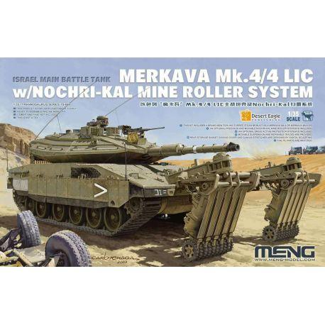 "MENG MODEL TS-049 Israel ""Mekava"" MK.4/4LIC Main Battle Tank and Nochri-Kal Mine Clearance System"