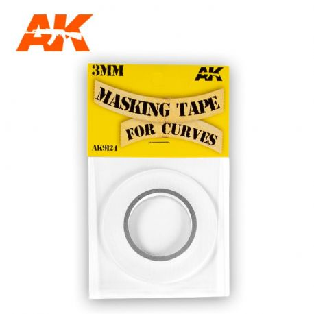 AK INTERACTIVE MASKING TAPE FOR CURVES 3 MM. 18 METERS LONG