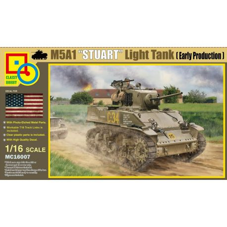 "CLASSY HOBBY 16007 M5A1 ""STUART"" LIGHT TANK Early Production 1/16"